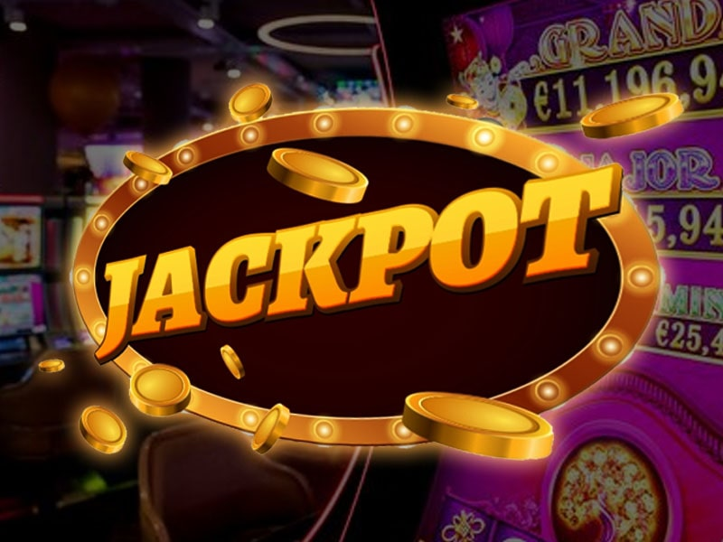 Casino jackpot badge with coins